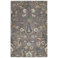 Hand-Tufted Ashton Lilac Wool Rug - 8' x 10'