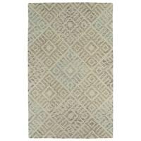 Hand-Tufted Homa Beige Wool Rug - 8' x 10'