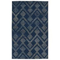 Hand-Tufted Homa Navy Wool Rug - 8' x 10'