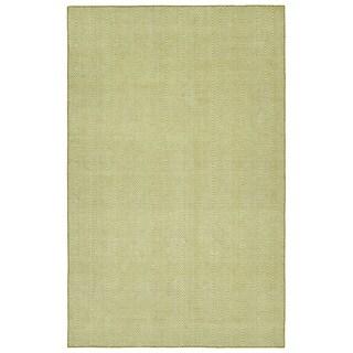 Indoor/Outdoor Eden Chevron Wasabi Polyester Rug - 8' x 10'