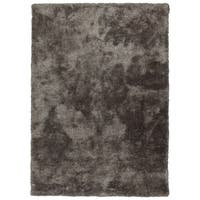 Hand-Tufted Silky Shag Taupe Polyester Rug - 8' x 10'