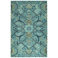 Bombay Home Ashton Blue Wool Hand-tufted Rug (8' x 10')