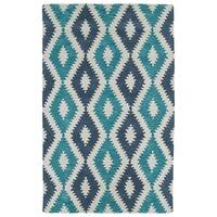 Hand-Tufted Copal Turquoise Wool Rug - 8' x 10'