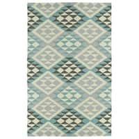 Hand-Tufted Copal Spa Wool Rug - 8' x 10'
