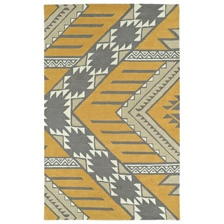 Bombay Home Copal Butterscotch Wool Hand-tufted Area Rug (8' x 10')