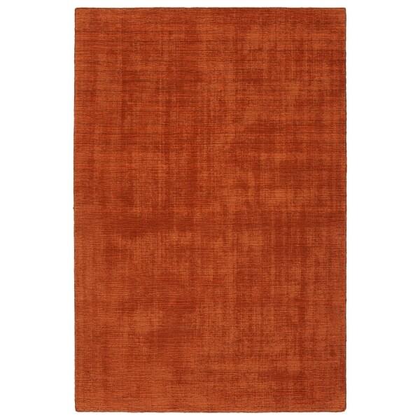 Indoor/Outdoor Handmade Tula Rust Polyester Rug - 8' x 10'