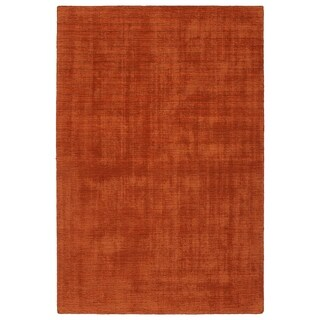 Indoor/Outdoor Handmade Tula Rust Polyester Rug - 8' x 10'