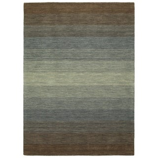Bombay Home Blends Brown Wool Handmade Rug (8' x 10')