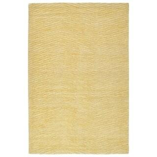 Hand-Tufted Brantley Gold Wool Rug - 8' x 10'