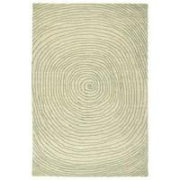Hand-Tufted Brantley Green Wool Rug - 8' x 10'