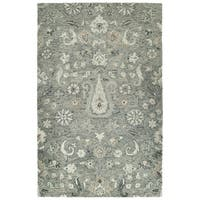Bombay Home Ashton Grey Wool Hand-tufted Area Rug (8' x 10')