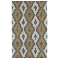 Hand-Tufted Copal Camel Wool Rug - 8' x 10'