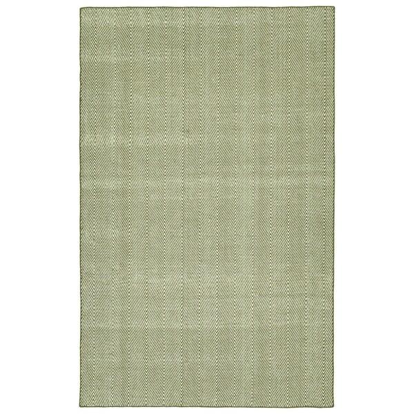 Indoor/Outdoor Eden Chevron Olive Polyester Rug - 8' x 10'