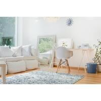 Handmade Hayden Blue Wool & Chenille Rug - 8' x 10'