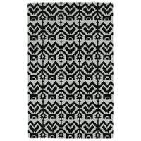 Hand-Tufted Copal Black Wool Rug - 8' x 10'