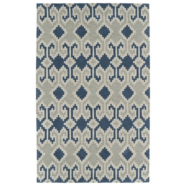 Hand-Tufted Copal Denim Wool Rug - 8' x 10'