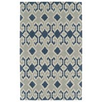Bombay Home Copal Denim Blue Wool Hand-tufted Area Rug (8' x 10')