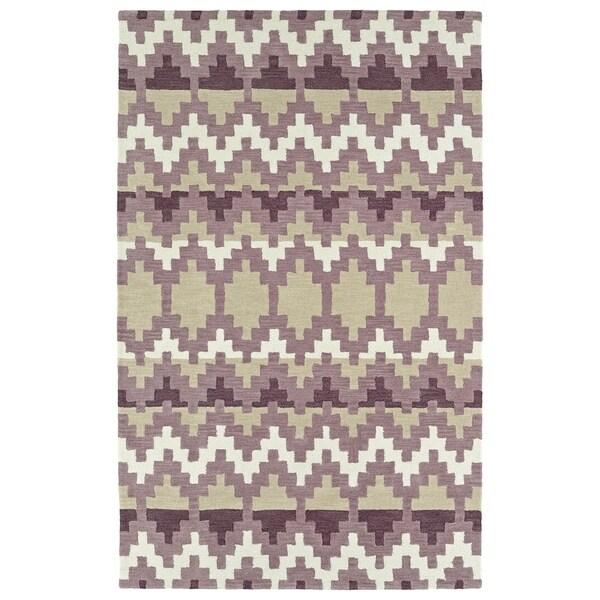 Hand-Tufted Copal Purple Wool Rug - 8' x 10'