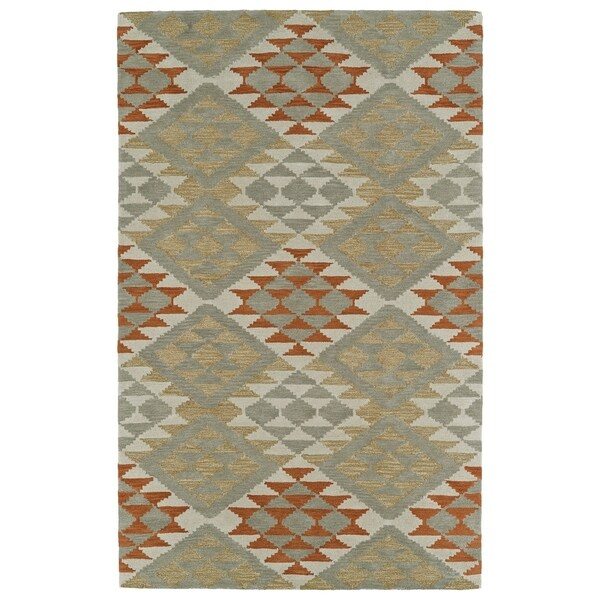 Hand-Tufted Copal Paprika Wool Rug - 8' x 10'