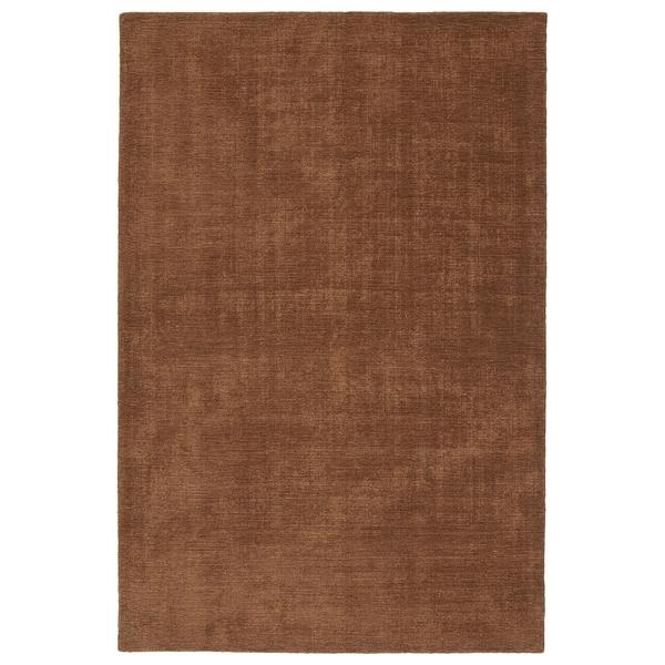 Indoor/Outdoor Handmade Tula Light Brown Polyester Rug - 8' x 10'
