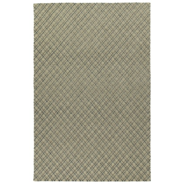Hand-Tufted Snook Grey Wool Rug - 8' x 10'