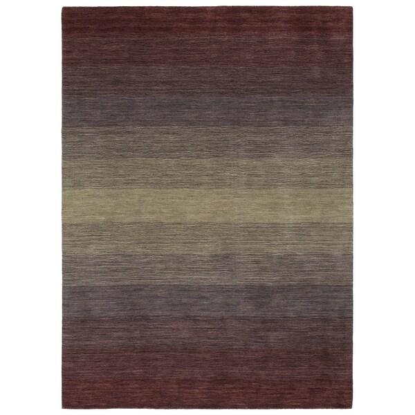 Hand Made Blends Purple Wool Rug - 8' x 10'