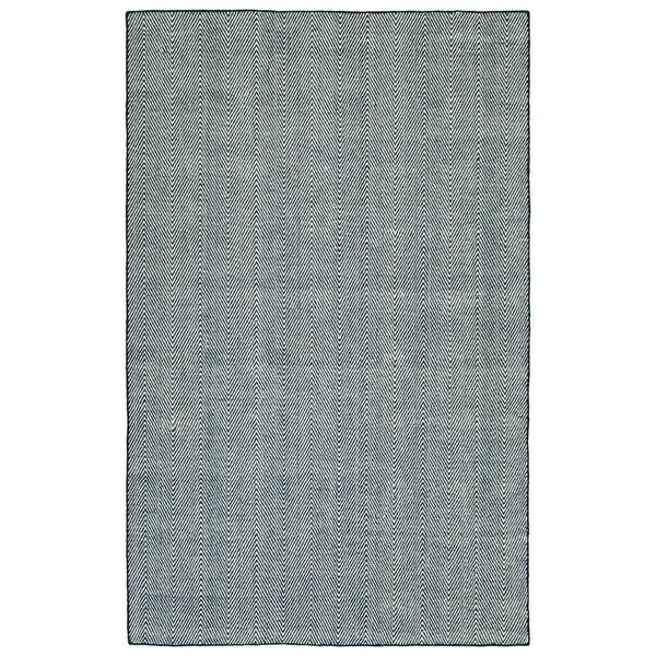 Indoor/Outdoor Eden Chevron Navy Polyester Rug - 8' x 10'