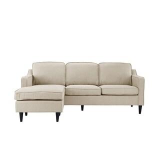 Mid-Century Couch Modern Linen Reversible L-Shape Sofa