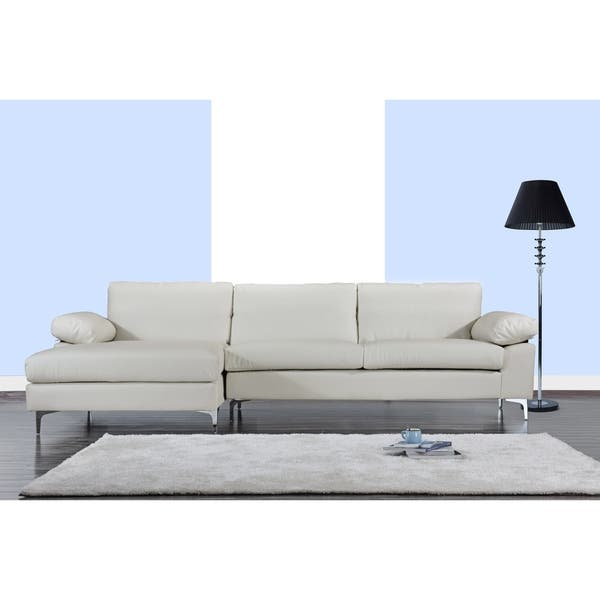 Sensational Shop Modern Large Faux Leather Sectional Sofa Extra Wide Pdpeps Interior Chair Design Pdpepsorg