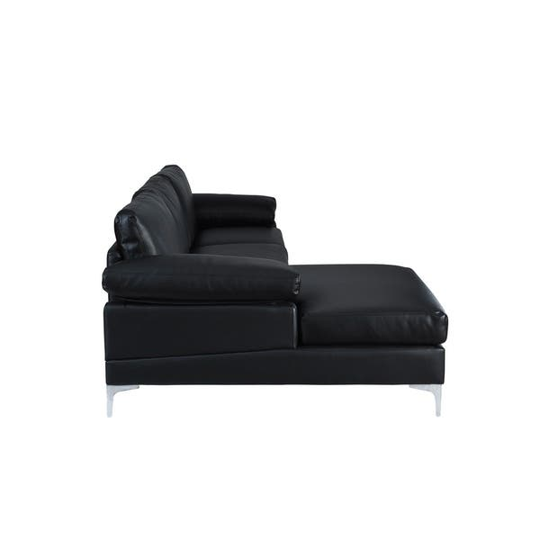 Astonishing Shop Modern Large Faux Leather Sectional Sofa Extra Wide Pdpeps Interior Chair Design Pdpepsorg
