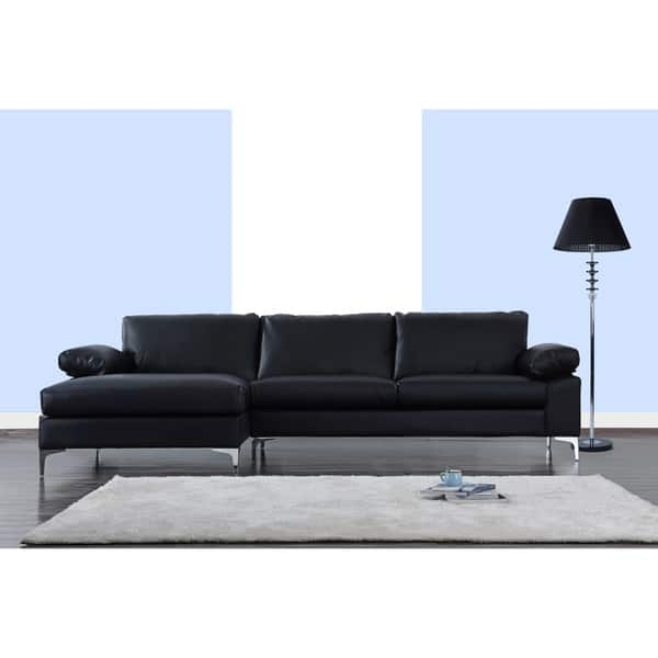 Strange Shop Modern Large Faux Leather Sectional Sofa Extra Wide Pdpeps Interior Chair Design Pdpepsorg