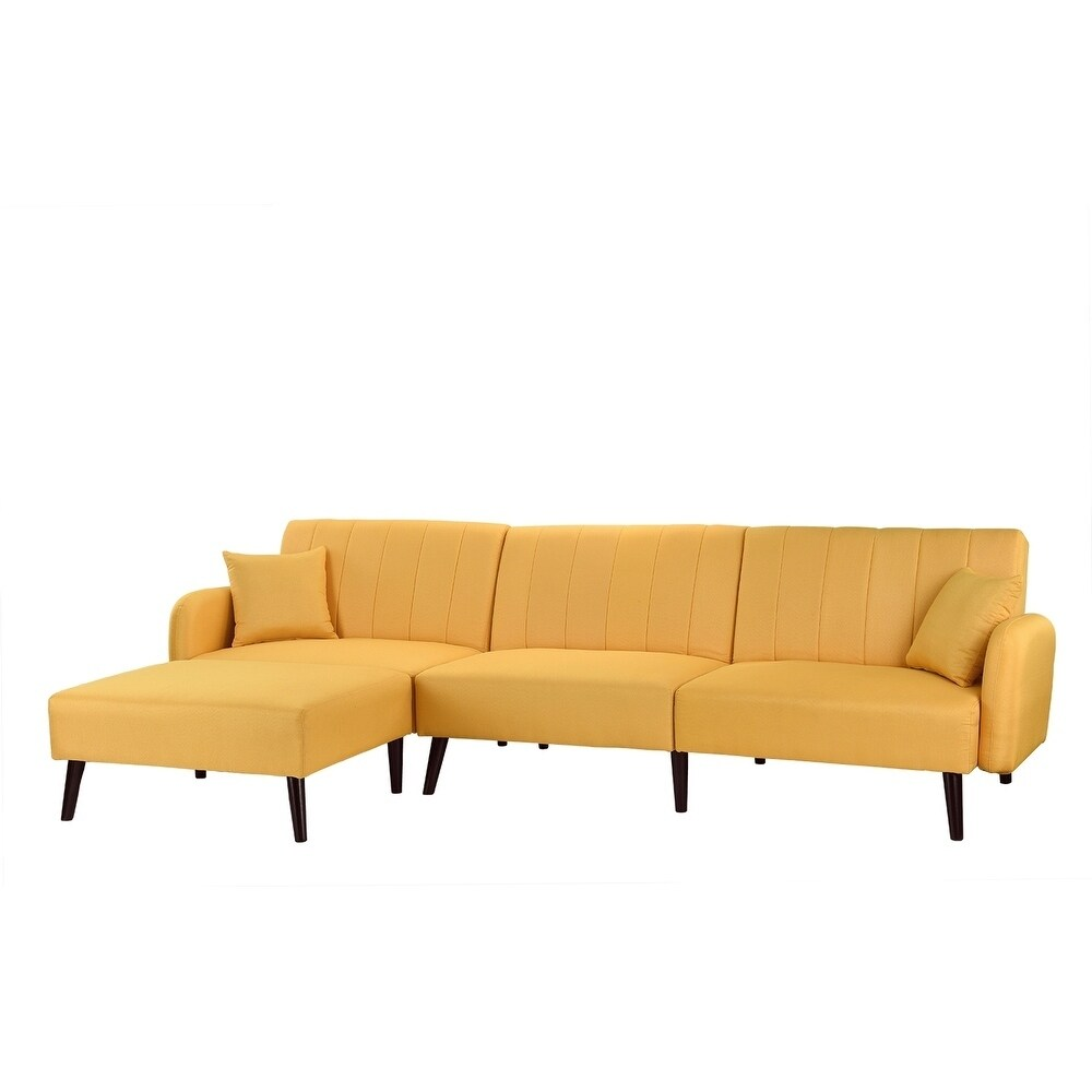 detailed look 12ecc fc5ae Mid Century Sleeper Futon Sofa Reclining Sectional Couch