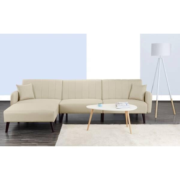 Shop Mid Century Sleeper Futon Sofa Reclining Sectional ...