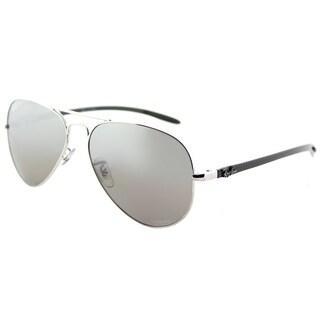 e75ece05ee Ray-Ban Aviator RB 8317CH 003 5J Unisex Shiny Silver Frame Silver Mirror  Chromance