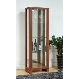 Benzara Enchanting LED Light See-through Light Walnut Brown Wood/Glass Curio|https://ak1.ostkcdn.com/images/products/18094270/P24252352.jpg?impolicy=medium