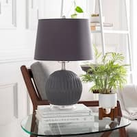 Hannigan 19 in. Black Modern Table Lamp