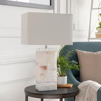 Stellan 26 in. White Transitional Table Lamp