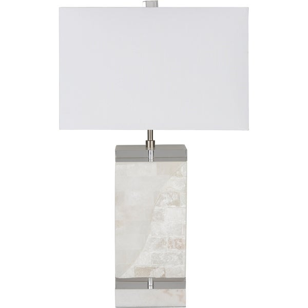 Stellan 26 in. White Transitional Table Lamp