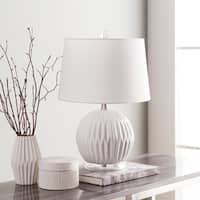 Hannigan 19 in. White Modern Table Lamp