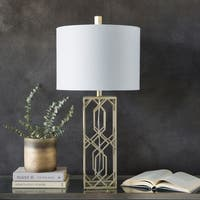 Kosmis 30.25 in. White Transitional Table Lamp