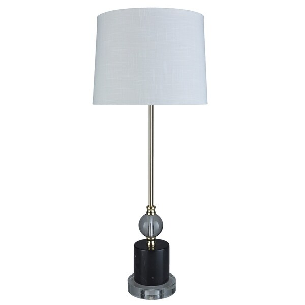 Valentin 30.5 in. White Transitional Table Lamp