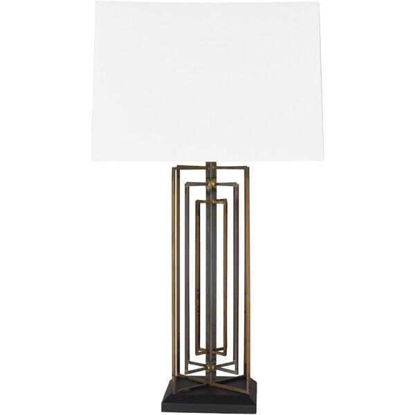 Ellanora 30 in. White Industrial Table Lamp