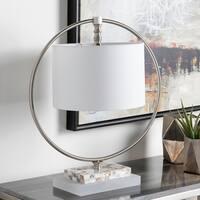 Fluxton 22.2 in. White Modern Table Lamp