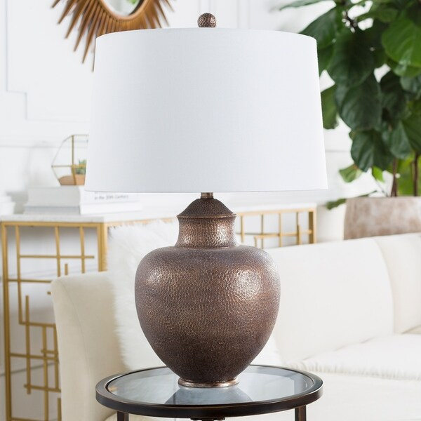 Aviva 26 in. Tan Traditional Table Lamp