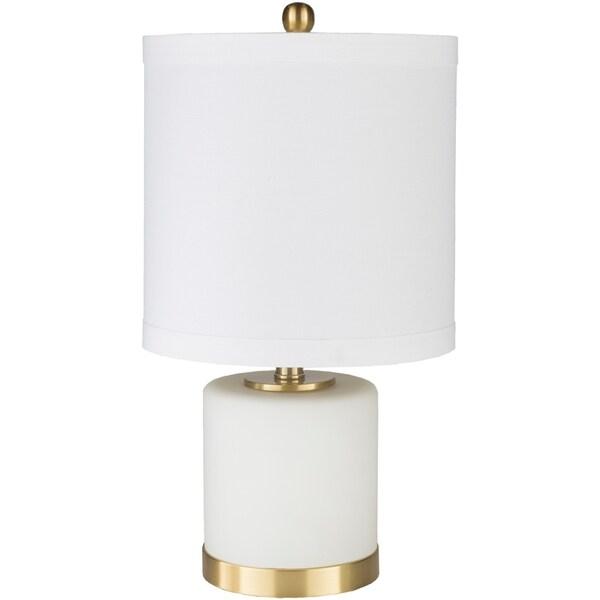 Svante 21.5 in. White Modern Table Lamp