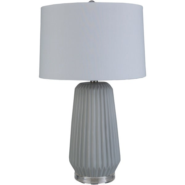 Amsel 25.5 in. Gray Modern Table Lamp