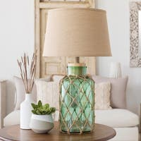 Elstow 30 in. Green Transitional Table Lamp