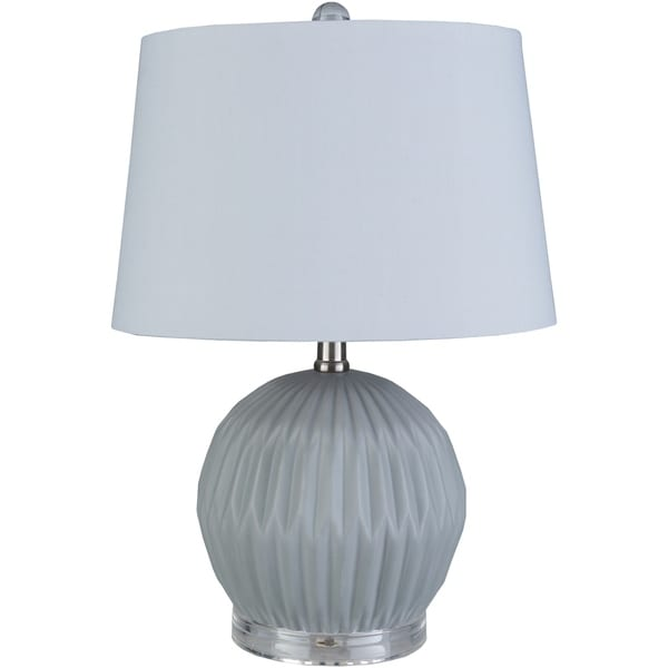 Hannigan 19 in. Gray Modern Table Lamp