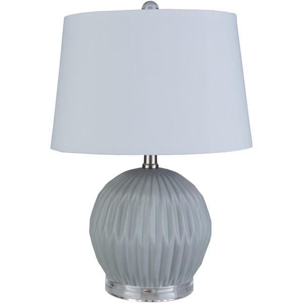 Hannigan 19 in. Gray Modern Table Lamp