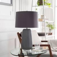 Amsel 25.5 in. Black Modern Table Lamp